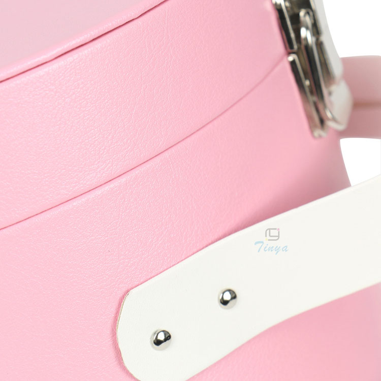 Pink color cardboard cosmetic box set packaging