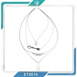 Fashionable jewelry wholesale bead necklace designs,stainless steel chain necklace