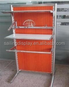 Metal Clothes Display Shelf Stand with leveller
