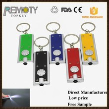 Cheap gift mini flashlight led keychain light with custom logo