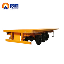 2 Axle 20ft New Flat Bed Truck Chassis Container Flatbed Semi Trailer For Sale
