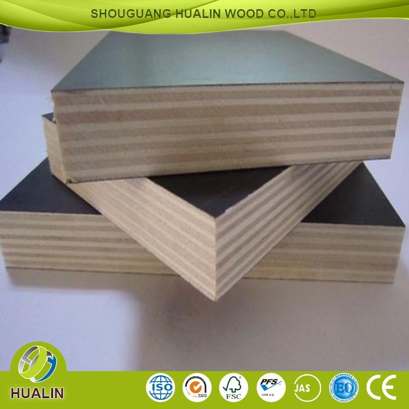 hualin construction grade two times hot press brown film faced plywood HOT SALE