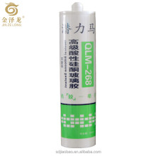 Quick curing Acid glass silicone sealant For Engineering glass cabinets aluminum alloy glass doors and windows small aquarium