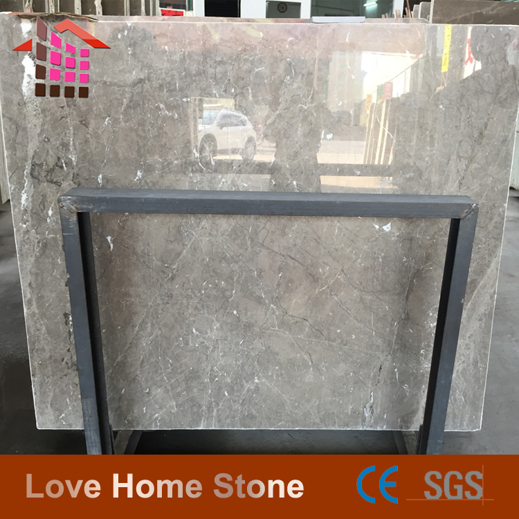 Polished Cloud Grey Marble Tile For Floor