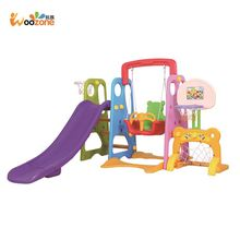 wholesale china kids toy children indoor plastic swing and slide set