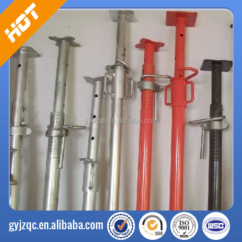 adjustable u head Q235 shoring prop jack/construction props/prop scaffolding China factory