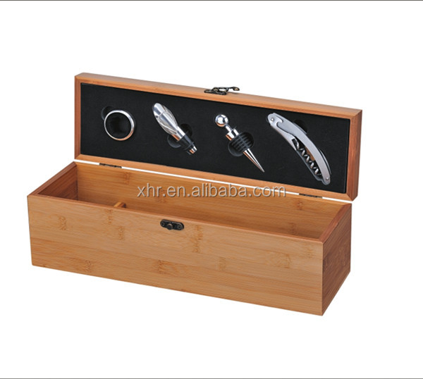 New hot product single bottle wine box accessories with bamboo
