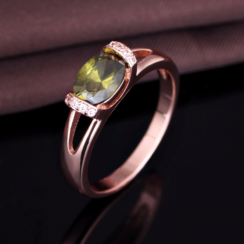 Cheap Wholesale 925 Sterling Silver Wedding Ring with Olive Stone