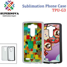 Blank Sublimation Gel Phone Case for LG G3
