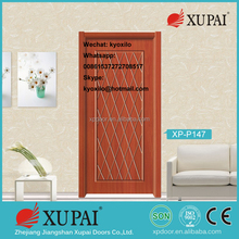 Fashion real security jiangshan Manufactuer door Swing double Open fire rated steel fire glass wood pvc door