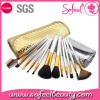Sofeel latest products12pcs make up brush with cosmetic bag