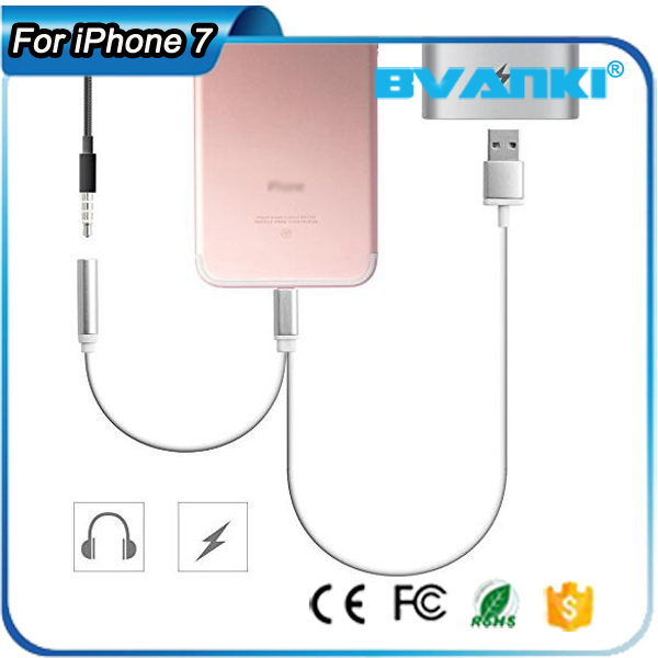 Shop China Electronics Online 2In1 3.5mm Headphone Jack Cable For iPhone 7 Headphone/Earphone Adapter