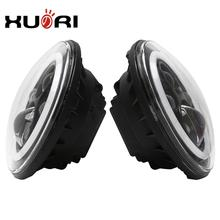 7inch round angel eyes 47W LED headlight,Waterproof led color changing angel eyes headlights