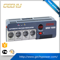 SRW-1500-D portable LED relay control voltage regulator full automatic AC Voltage Stabilizer with UK/European/Universal socket