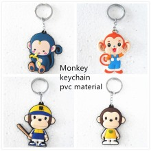 3D animal keyring monkey key chain anime keychain