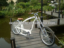 26inch comfortable professional white cheap chopper bicycles for sale