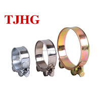 High-quality Robust heavy duty hose clamp with solid nut