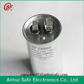 High Quality Motor Running Capacitor Cbb65 High Quality Air Conditioner Capacitor CBB65