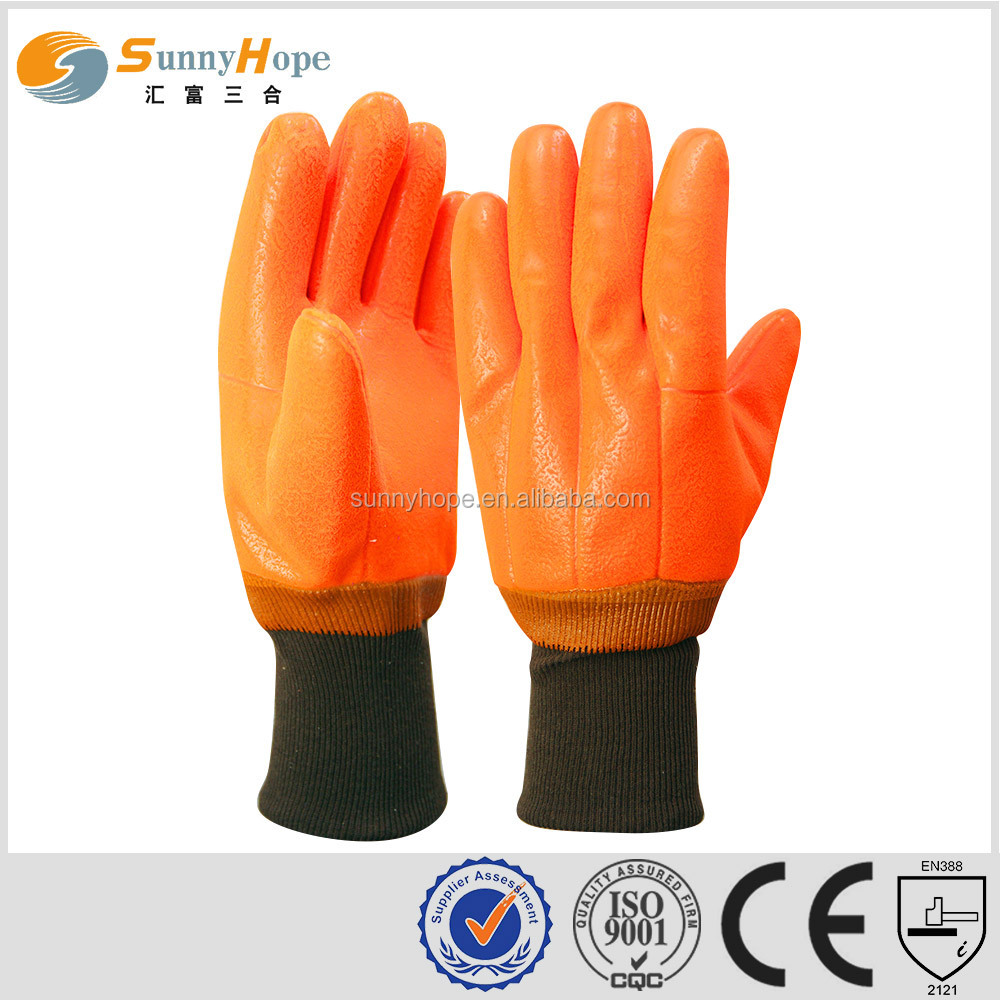 sunnyhope Fluorescent pvc industrial safety gloves