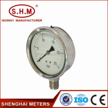 Bourdon tube type pressure gauge case in china