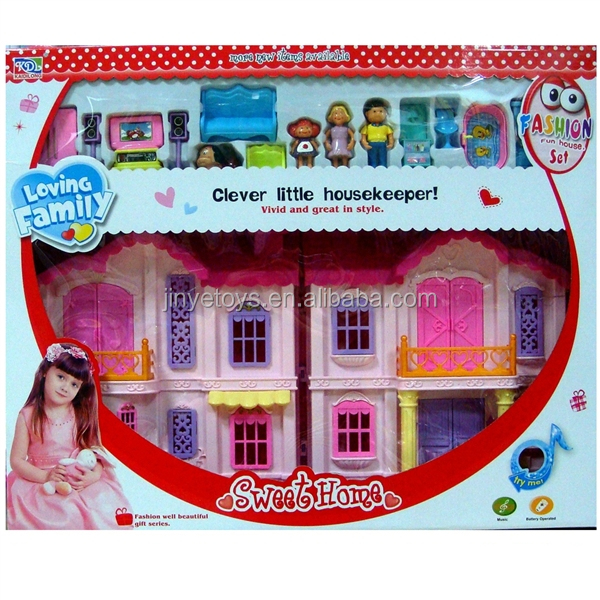 Casa muneca plastico Baby Doll Plastic Houses for Kids toys for kids furniture playhouse manufacturer