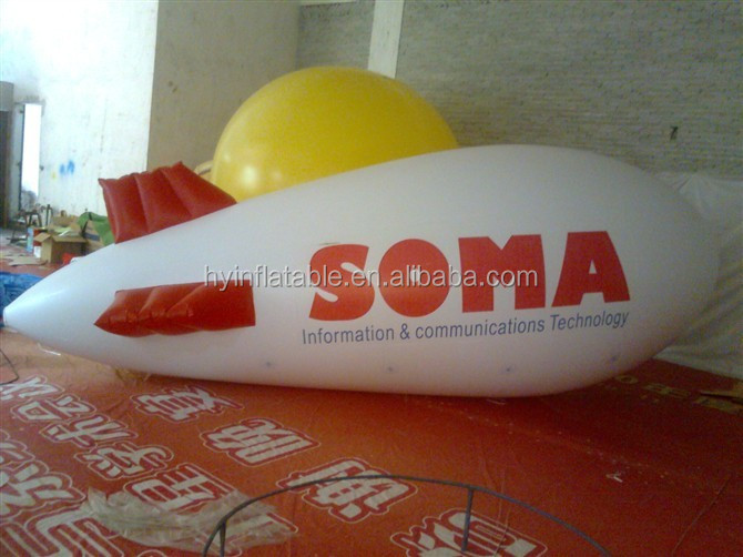 2016 high quality factory price inflatable rc blimp airship outdoor