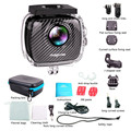 HOT 360 sport camera 4k waterproof , Dual Lens 720 VR Sport camera go pro standard with watercase 30 m