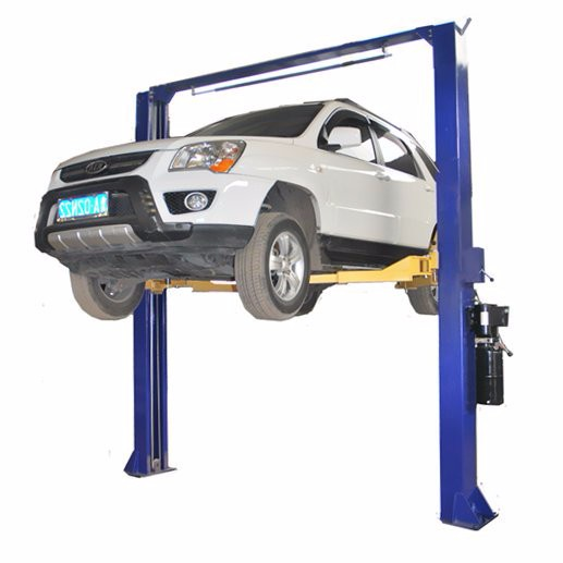 Double columns hydraulic lift for car garages