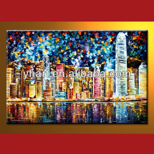Wholesale Handmade Hong Kong Scenery Picture Oil Painting