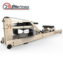 china manufacturer indoor home Gym clube water ash wood frame fitness rowing machine