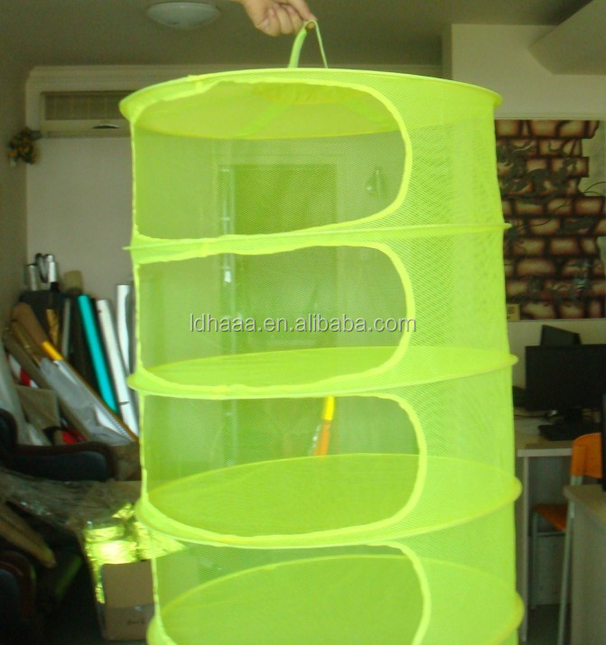 8 Layer Collapsible Hydroponics Grow Tent Hanging Dry Net/Dry Rack