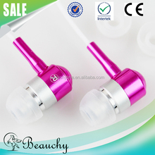 mobile accessories originality new design colorful hot sale beautiful metal earphone and earbuds