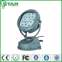Spot outdoor 18w 36w round led wall washer lights