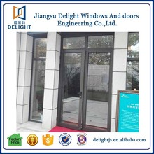 Latest grill design entry aluminum doors with roto hinges