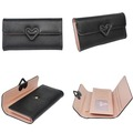 candy color pu leather ladies money coin purse with pattern