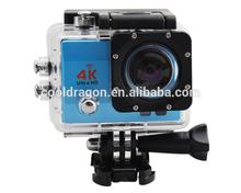 JM-G630-B action camera europe 2 inch LCD 4K 2K 1080P all winner V3 waterproof 30meters wifi hidden 4k action camera