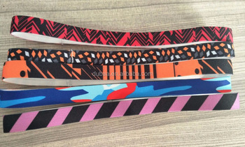 Assorted Heat Transfer Customized Print Elastic Sport Headbands Non Slip Workout Headbands Runing Exercise Sweatband