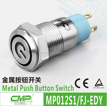 12mm Power LED Push Button Switch