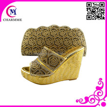 Africa shoes and bags for fashion show and party time csb-526 matching shoes and bags