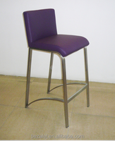Simple stainless steel bar stool high stool European mobile phone shop bar chair