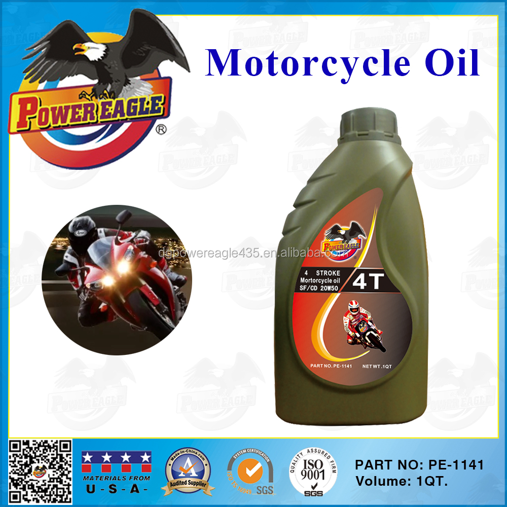SF/CD 20W50 Motorcycle 4T Engine Oil 1 QT.