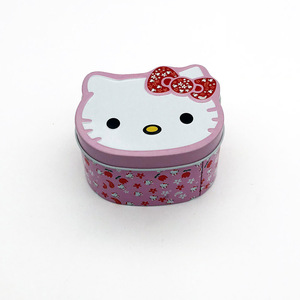 cat shaped candy biscuit tin box