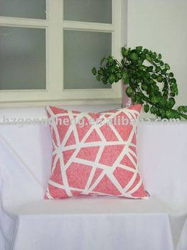 Printed suede cushion