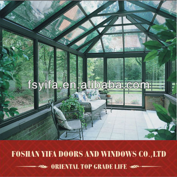 commercial prefabricated aluminum glass house