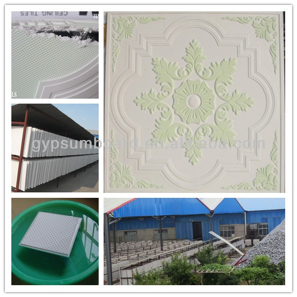 New China building materials waterproof Plaster ceiling/ fireproof and eco-friendly/ gypsum ceiling board/595*595 mm