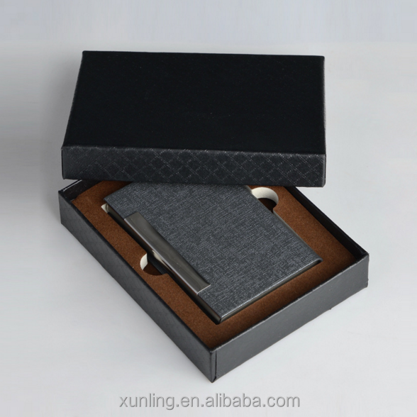 colorful leather covered leather id card holder
