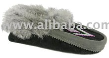 Native Indian Leather Moccasins shoes and for ladies, men, youth and baby moccasin shoes.