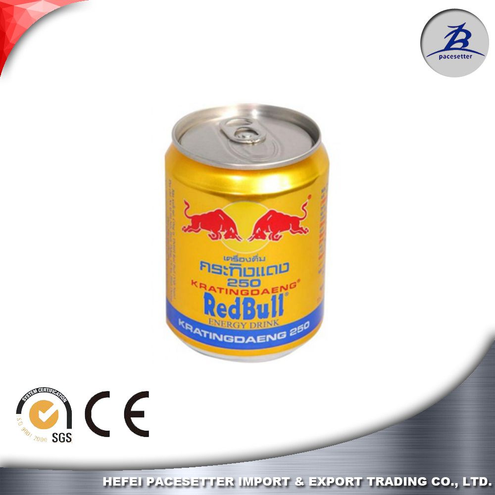 250ml red bull empty aluminium can