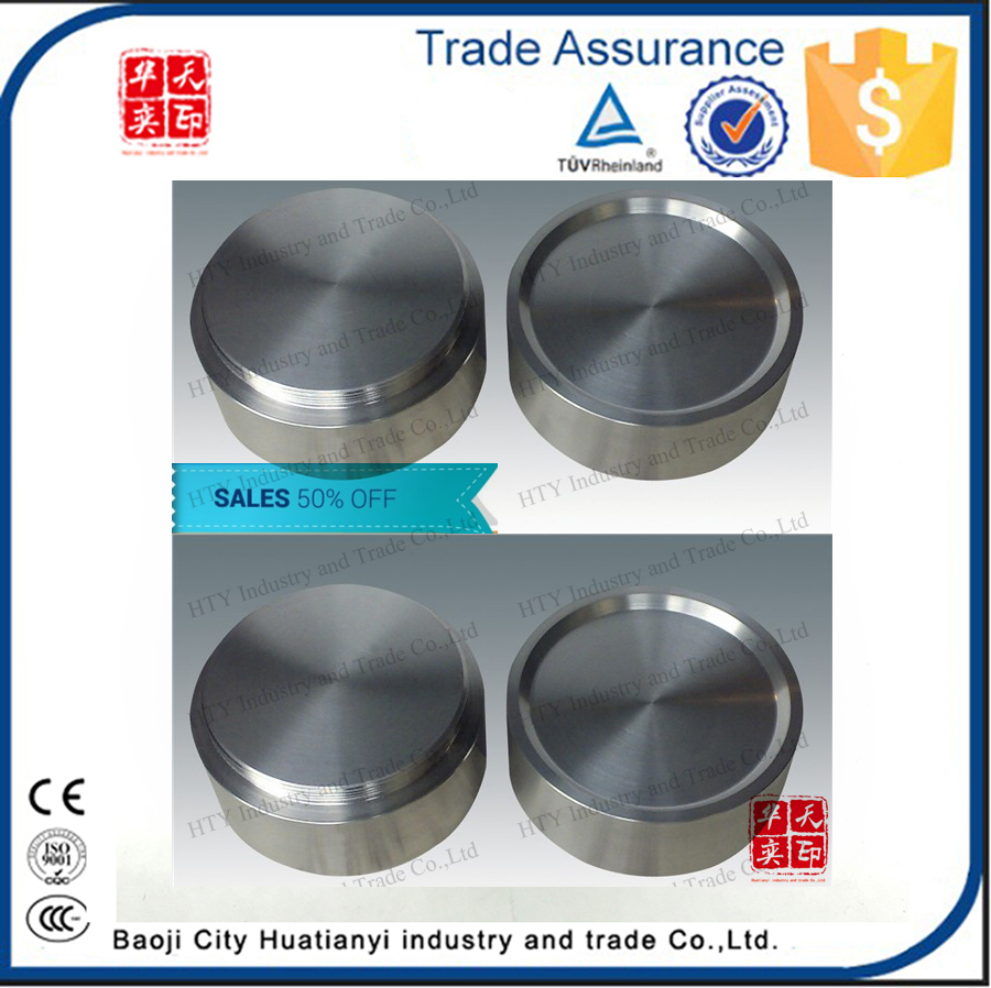 99.9% dia150mm titanium disk cr tio2 sputtering silver target made in china