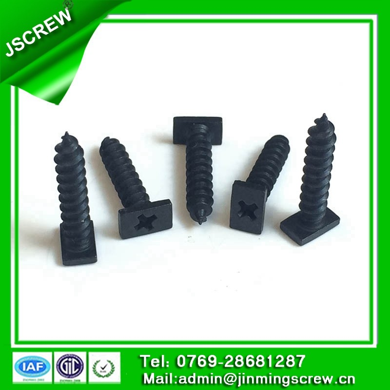hardened Black plated cross flat head Chipboard screw M4